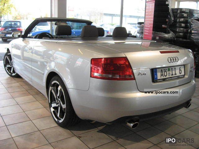 2006 audi a4 cabriolet 2 0 tfsi multitronic 18 inches car photo and specs. Black Bedroom Furniture Sets. Home Design Ideas