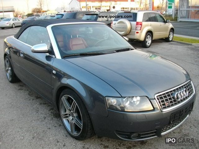 2004 audi s4 cabriolet leather xenon alu 18 car photo and specs. Black Bedroom Furniture Sets. Home Design Ideas