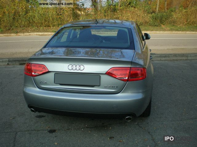 2008 audi a4 2 7 tdi v6 multitronic fap car photo and specs. Black Bedroom Furniture Sets. Home Design Ideas