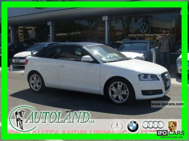 2008 Audi  A3 Convertible 2.0 TFSI Ambition S-TRONIK PELLE ROSSA Cabrio / roadster Used vehicle photo