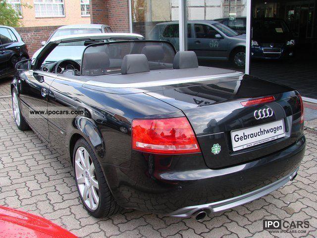 2008 audi a4 convertible s line quattro 3 2 fsi leather xenon nav car photo and specs. Black Bedroom Furniture Sets. Home Design Ideas