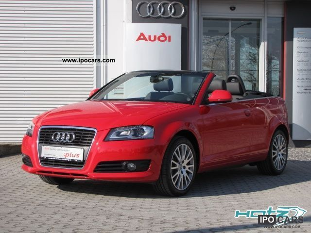 2009 audi a3 convertible 2 0 tfsi ambition navi xenon car photo and specs. Black Bedroom Furniture Sets. Home Design Ideas