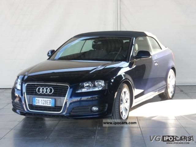 2009 Audi  A3 Convertible 2.0 TDI AMBITION S TRONIC- Cabrio / roadster Used vehicle photo