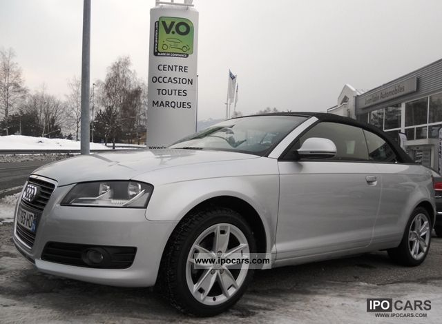 2010 Audi  1.6 TDI 105 DPF Ambition 2P A3 CABRIOLET Cabrio / roadster Used vehicle photo