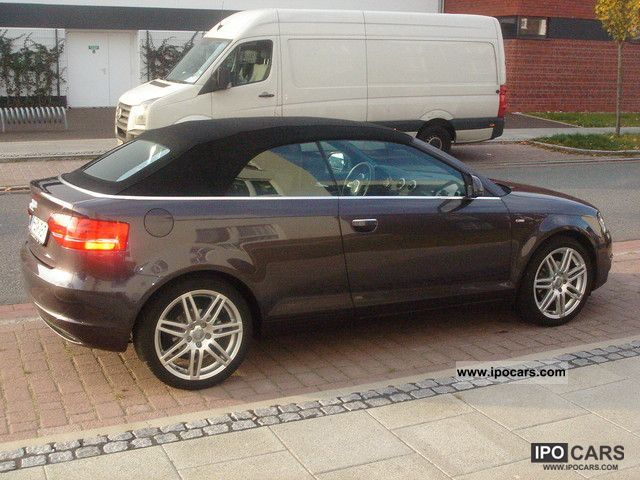 2009 audi a3 cabriolet 1 8 tfsi s line sports package plus car photo and specs. Black Bedroom Furniture Sets. Home Design Ideas