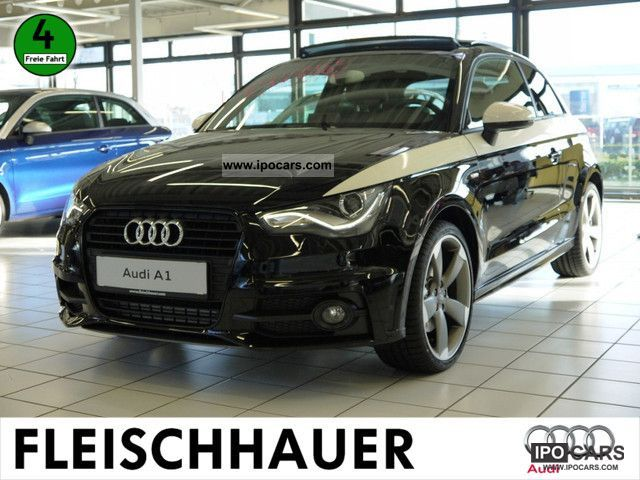 2011 audi a1 2.0 tdi s-line black & white navigation - car photo