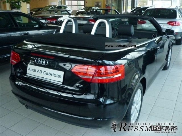 2011 audi a3 convertible 1.6 tdi attraction 77 (105) kw (ps) 5-ga