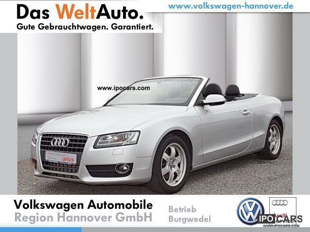 2010 Audi  A5 Cabriolet 2.0 TFSI leather, sound system., Cabrio / roadster Used vehicle photo