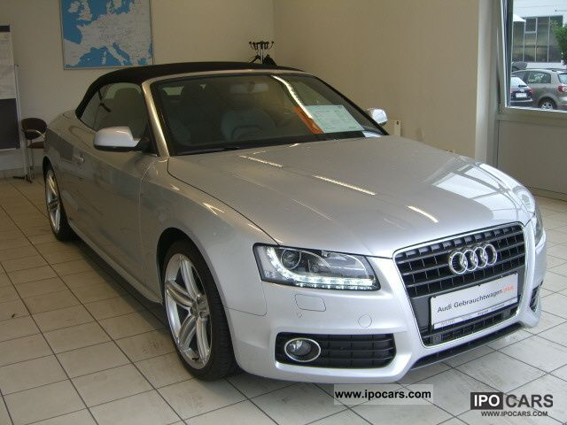 2010 Audi  A5 Cabriolet 1.8T S-Line KEYLESS GO LE NAVI PDC Cabrio / roadster Used vehicle photo