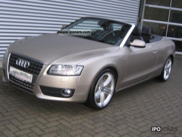 2009 audi a5 cabriolet 2 7 tdi s line air xenon leather car photo and specs. Black Bedroom Furniture Sets. Home Design Ideas