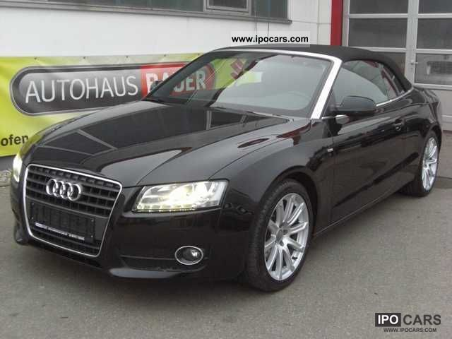 Audi A5 Cabriolet 2.0 TDI S-LINE, trailer hitch, LEATHER, XENON, NAVI ...