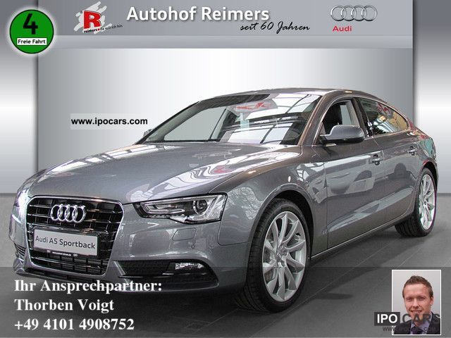 2012 Audi  A5 Sportback 2.0 TDI MJ2012, B & O, leather, Navi Limousine Demonstration Vehicle photo