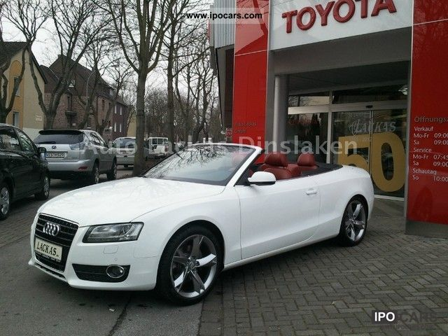 2009 Audi A5 Cabriolet 3 2 Fsi White Bang Olufsen 19 Inch Tv Car Photo And Specs