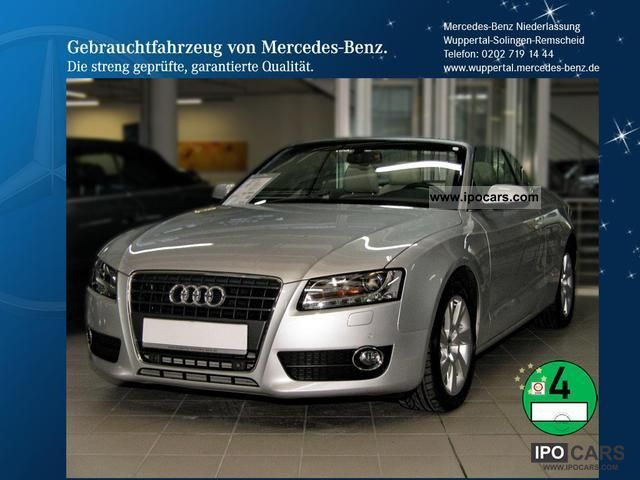 2010 Audi  A5 2.7 TDI Convertible Leather Navi Xenon cruise PTS Cabrio / roadster Used vehicle photo