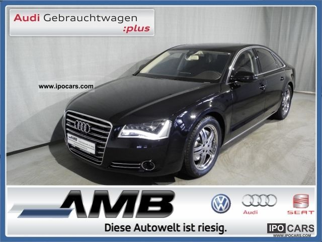 2012 Audi  A8 3.0 TDI LED-Scheinw./BOSE/beheiz.MFL/GSD/19'' Limousine Demonstration Vehicle photo