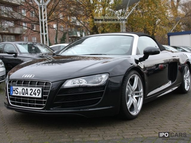 2010 audi r8 5 2 fsi spyder car photo and specs. Black Bedroom Furniture Sets. Home Design Ideas