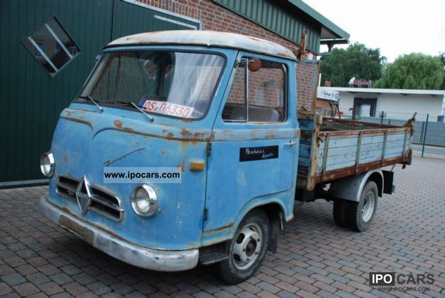 Borgward  B 1500 F diesel flatbed / tipper original 1959 Vintage, Classic and Old Cars photo