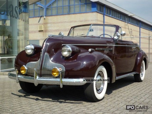Buick  Century Series 60 Convertible 1939 Vintage, Classic and Old Cars photo