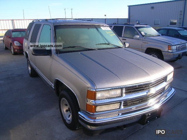 1999 Chevrolet Tahoe Car Photo And Specs