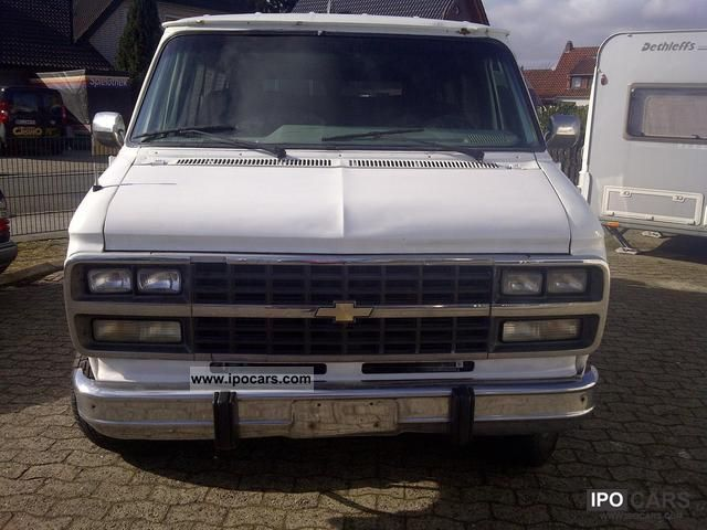 1992 Chevrolet  Chevy Van G20 Gas plant with white Van / Minibus Used vehicle photo