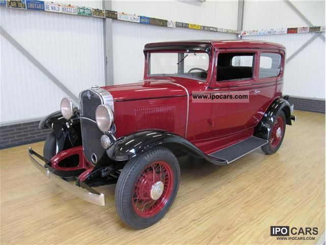 Chevrolet  2 Door Sedan 6 Cylinder 1931 Vintage, Classic and Old Cars photo