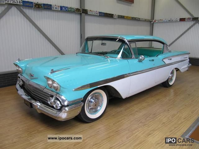 1958 Chevrolet Bel Air V8 Sedan Car Photo And Specs