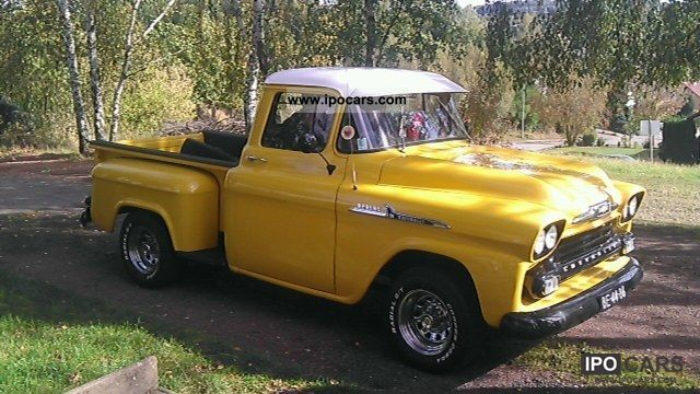 1958 Chevrolet Apache Pick Up 3100 V8 57l Car Photo And Specs