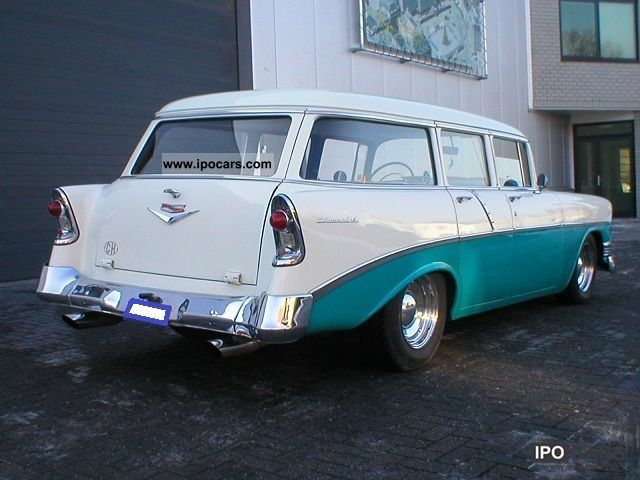 1956 Chevrolet Bel Air Belair Wagon Car Photo And Specs