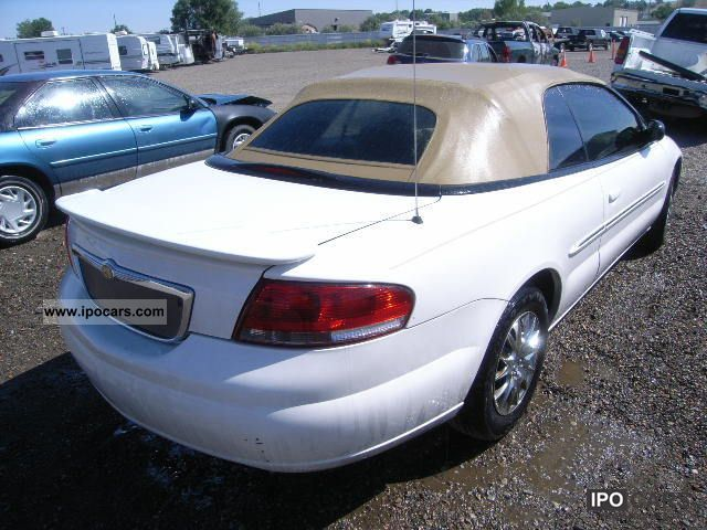 2002 chrysler sebring car photo and specs. Black Bedroom Furniture Sets. Home Design Ideas
