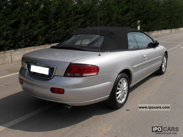 2001 chrysler sebring cabrio 2 7 v6 203cv 24v lx automatica car photo and specs. Black Bedroom Furniture Sets. Home Design Ideas