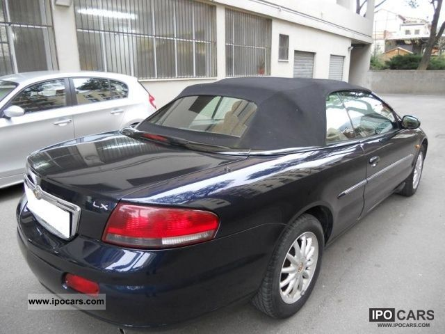 2003 chrysler sebring lx convertible 2 7 v6 24v cat automatica car photo and specs. Black Bedroom Furniture Sets. Home Design Ideas