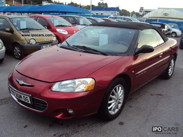 2001 Chrysler  SEBRING CONVERTIBLE 2.7i V6 LX A Cabrio / roadster Used vehicle photo