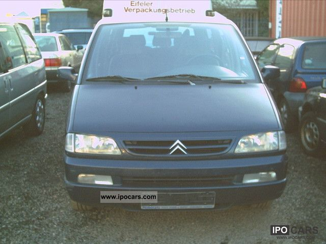 2000 citroen evasion 2 0 hdi exclusive car photo and specs. Black Bedroom Furniture Sets. Home Design Ideas