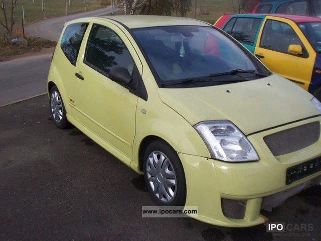 2004 citroen c2 1 6 16v vtr senso drive car photo and specs. Black Bedroom Furniture Sets. Home Design Ideas