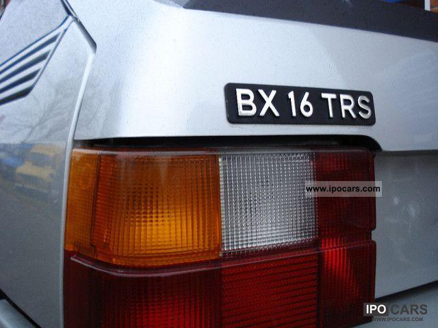 1984 citroen bx 16 trs car photo and specs. Black Bedroom Furniture Sets. Home Design Ideas