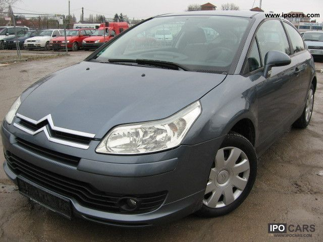 2005 citroen c4 coupe 1 6 hdi vtr car photo and specs. Black Bedroom Furniture Sets. Home Design Ideas
