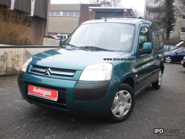 Citroen  BERLINGO.MULTISPACE: LPG GAS: CLIMATE: EFH: WHB: Compare 2003 Liquefied Petroleum Gas Cars (LPG, GPL, propane) photo