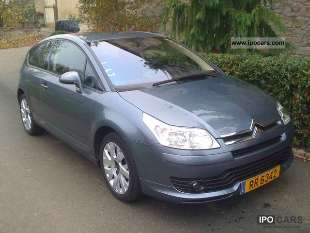 2007 citroen c4 coupe vts hdi 110 fap car photo and specs. Black Bedroom Furniture Sets. Home Design Ideas