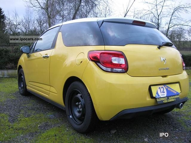 2010 citroen ds3 1 6 hdi 90ch so chic car photo and specs. Black Bedroom Furniture Sets. Home Design Ideas