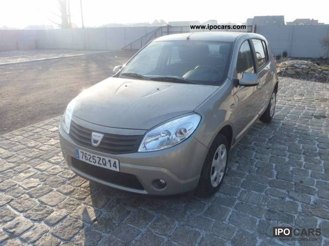 2008 dacia sandero tys 16 km car photo and specs. Black Bedroom Furniture Sets. Home Design Ideas