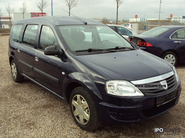 Dacia  Logan MCV 1.6 LPG * Servo * APC * ZV * 7 seats * 2010 Liquefied Petroleum Gas Cars (LPG, GPL, propane) photo