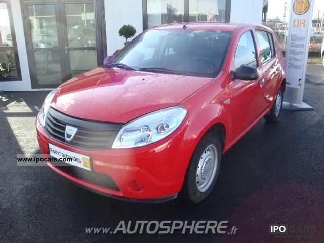Dacia  Sandero 1.4 MPI 75 GPL 2010 Liquefied Petroleum Gas Cars (LPG, GPL, propane) photo