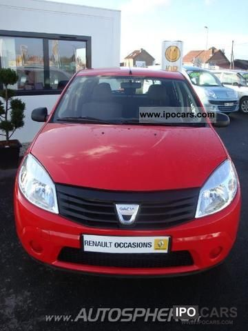 2010 dacia sandero 1 4 mpi 75 gpl car photo and specs. Black Bedroom Furniture Sets. Home Design Ideas