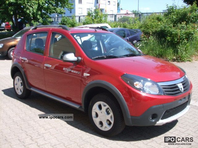 2010 dacia sandero stepway 1 6 mpi climate rims car photo and specs. Black Bedroom Furniture Sets. Home Design Ideas