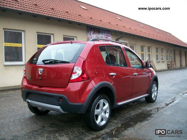 2010 dacia sandero 1 6 mpi stepway klima 1 hand euro 4 car photo and specs. Black Bedroom Furniture Sets. Home Design Ideas