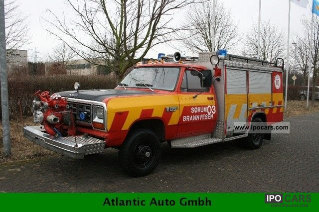Dodge  RAM W 450 firefighters with LPG 1983 Liquefied Petroleum Gas Cars (LPG, GPL, propane) photo