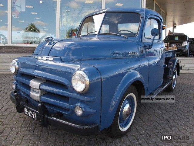 Dodge  OTHER Job Rated SideStep LPG pick-up in 1952 1952 Vintage, Classic and Old Cars photo