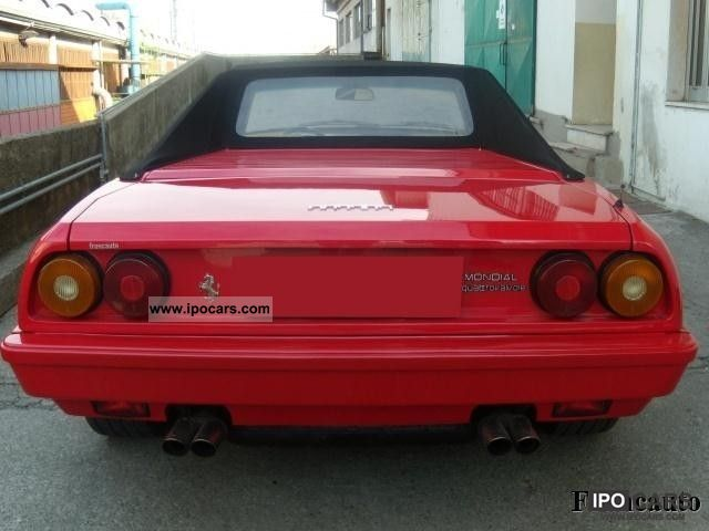 1984 ferrari mondial cabriolet car photo and specs. Black Bedroom Furniture Sets. Home Design Ideas
