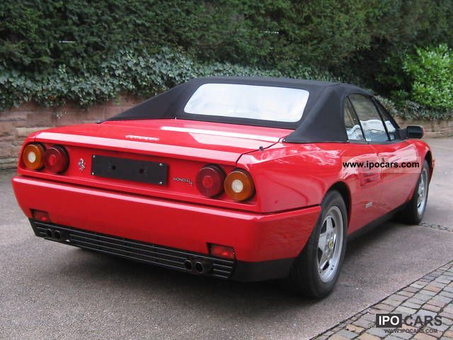 1990 ferrari mondial cabriolet 3 4 t collector grade car photo and specs. Black Bedroom Furniture Sets. Home Design Ideas
