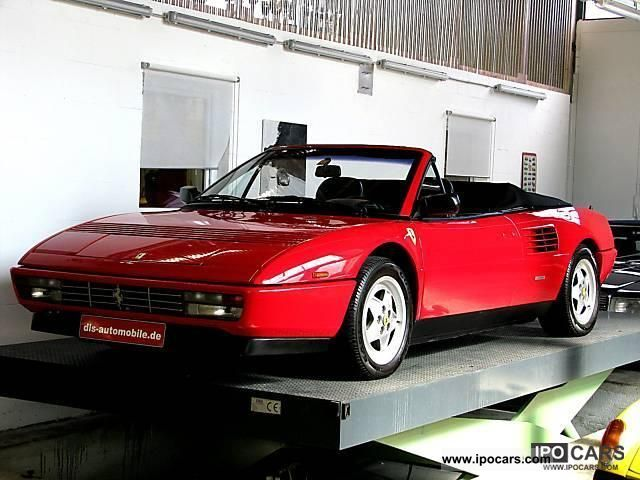 1990 ferrari mondial cabriolet car photo and specs. Black Bedroom Furniture Sets. Home Design Ideas